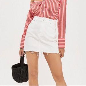 Topshop Highwaisted White Jean Skirt